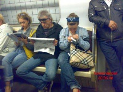 30 мая 2008 - На следующий день после концерта семья Панфиловых в Московском метрополитене