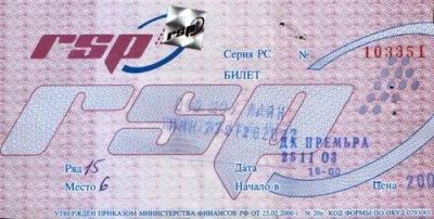 25 ноября 2003 - Краснодар - ДК «Премьера»