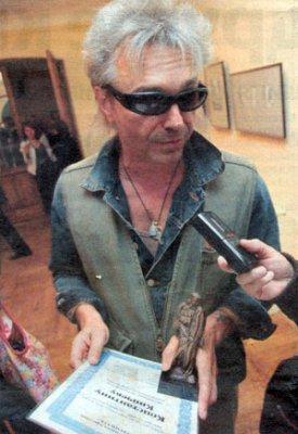 5 июня 2006 - Санкт-Петербург, музей-квартира А.С.Пушкина, К.Кинчеву вручили художественную премию «Петрополь»