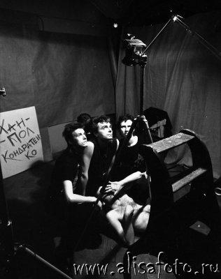 23 февраля 1987 - Съёмки в студии Мраморного дворца (Ленинград), фотограф В.Потапов